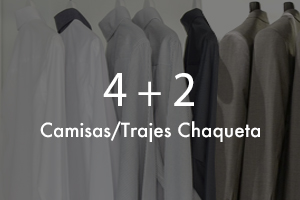 Pack Ejecutivo: 4 Camisas + 2 Trajes Chaqueta