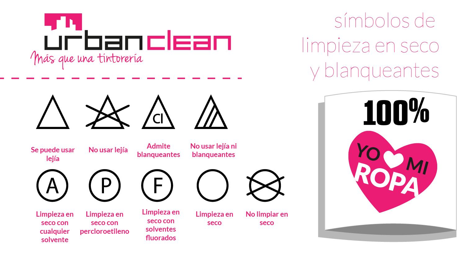 símbolos lavado en seco