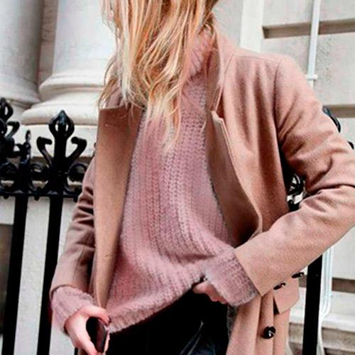 Tonos marrones y rosa