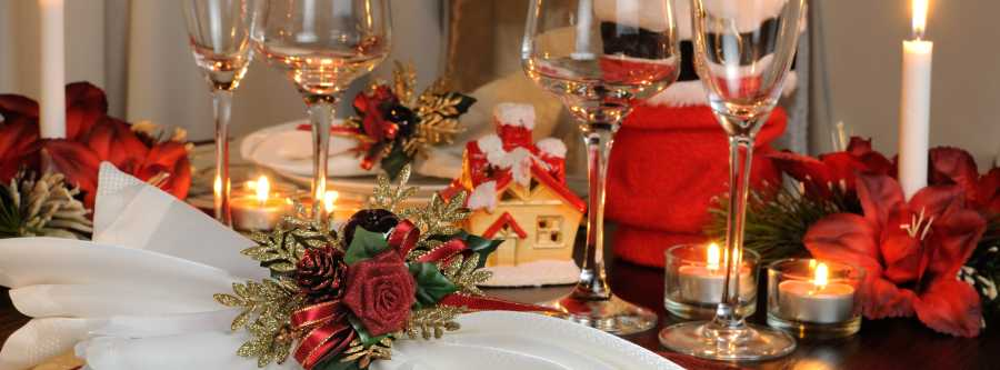 decoración mesa de nochebuena